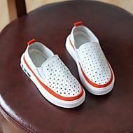 tanie Obuwie dziewczęce-Dla dziewczynek Dla chłopców Buty Skóra Wiosna Jesień Comfort Mokasyny i pantofle na Casual Orange Gray