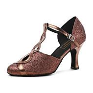 billige Moderne sko-Moderne Kunstlær Joggesko Trimmer Tykk hæl Gull Mørkerød Kan spesialtilpasses