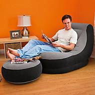 Intex Zračna sofa Kauč na napuhavanje Vanjski Prijenosno Može se sklopiti Napuhan Putni jastuk Rastezljiva Kompaktan Flocked PVC Filc