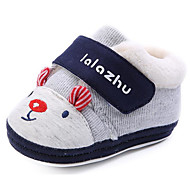 cheap Baby Shoes-Baby Shoes Cotton Spring Fall First Walkers Comfort Boots Booties/Ankle Boots for Casual Gray Peach Light Blue