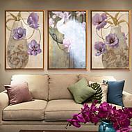 billige Innrammet kunst-Botanisk Olje Maleri Veggkunst,Aluminium Legering Materiale med ramme For Hjem Dekor Rammekunst Innendørs
