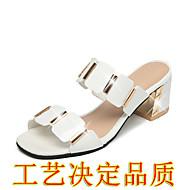 """זול סנדלי נשים-נשים סנדלים נוחות גומי קיץ הליכה נוחות עקב שטוח לבן שחור מתחת ל 2.54 ס""""מ"""