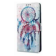 billiga Mobil cases & Skärmskydd-fodral Till Xiaomi Redmi not 5A Redmi Note 4X Korthållare Plånbok med stativ Lucka Magnet Mönster Drömfångare Hårt för