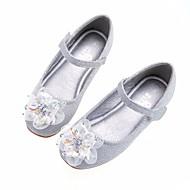 tanie Obuwie dziewczęce-Dla dziewczynek Obuwie Syntetyczny Wiosna / Jesień Comfort / Buty dla małych druhen Buty płaskie na Silver / Niebieski