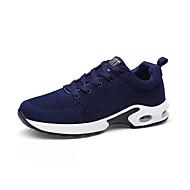 baratos Sapatos Masculinos-Homens sapatos Couro Ecológico Primavera Outono Tênis para Ao ar livre Cinzento Azul Branco/Preto