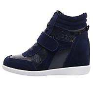 baratos Sapatos Femininos-Mulheres Sapatos Pele Outono / Inverno Conforto / Botas da Moda Tênis Salto Plataforma Ponta Redonda Marron / Rosa e Branco / Branco /