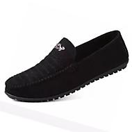 Miehet kengät Denim Kevät Syksy Comfort Puukengät varten Kausaliteetti Musta Harmaa Vihreä