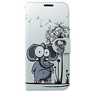 billiga Mobil cases & Skärmskydd-fodral Till Huawei P10 Korthållare Plånbok med stativ Lucka Elefant Hårt för Huawei