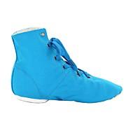 billige Jazz-sko-Dame Jazz-sko Tekstil Støvler Flat hæl Kan spesialtilpasses Dansesko Blå / Rosa