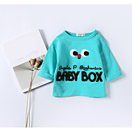 billige Hættetrøjer og sweatshirts til babyer-Baby Drenge Bluse Moderne, Bomuld Langærmet Normal Blå Gul
