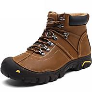 お買い得  メンズ アスレチックシューズ-男性用 靴 ナパ革 冬 秋 コンフォートシューズ アスレチック・シューズ のために スポーツ ブラック Brown