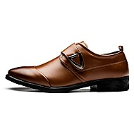cheap Men's Slip-ons & Loafers-Men's Patent Leather Spring / Fall Comfort Loafers & Slip-Ons White / Black / Brown / Party & Evening