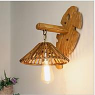 baratos Arandelas de Parede-Fosco Lanterna Luminárias de parede Quarto / Jardim Madeira / Bambu Luz de parede 3 W / E27
