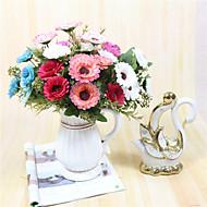 billige Kunstige blomster-1 Gren Polyester Kurvplante Andre Bordblomst Kunstige blomster