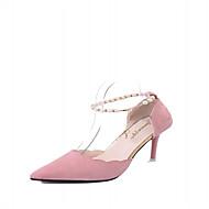 abordables Talons pour Femme-Femme Chaussures Similicuir Eté Confort bottes slouch Chaussures à Talons Marche Talon Aiguille Bout pointu Paillette Brillante Boucle