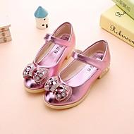 baratos Sapatos de Menina-Para Meninas Sapatos Couro Ecológico Primavera Conforto / Sapatos para Daminhas de Honra Rasos para Dourado / Prata / Rosa claro