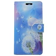 billiga Mobil cases & Skärmskydd-fodral Till Huawei P9 Korthållare Plånbok med stativ Lucka Blomma Maskros Hårt PU läder för Huawei