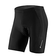 Nuckily Unisex Cycling Padded Shorts Bike Shorts Jersey Pants Breathable Anatomic Design Ultraviolet Resistant Sports Solid Color Elastane Black Mountain Bike MTB Road Bike Cycling Clothing Apparel