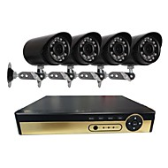 billige AHD-sæt-4 ch sikkerhedssystem med 4ch 1080n ahd dvr 41.0mp vejrbestandige kameraer med nattesyn