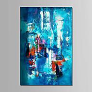 voordelige -Handgeschilderde Abstract Verticaal, Hedendaags Eenvoudig Modern Kangas Hang-geschilderd olieverfschilderij Huisdecoratie Eén paneel