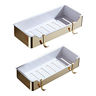 cheap Nickel Brushed Series-Bathroom Shelf High Quality Other Stainless Steel + A Grade ABS 1 pc - Hotel bath
