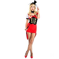 cheap Halloween & Carnival Costumes-Ringmaster Circus Dress Cosplay Costume Party Costume Women's Halloween Carnival Festival / Holiday Halloween Costumes Red Color Block