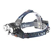 お買い得  フラッシュライト/キャンプ用ランタン-ANOWL LS1588 ヘッドランプ LED 1800 lm 4.0 モード LED パータブル プロフェッショナル キャンプ/ハイキング/ケイビング 日常使用 ダイビング/ボーティング 狩猟 釣り ブラック