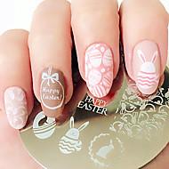 uskrsni zec jaje nail umjetnost žigosanje ploče predodžba slike lijepo lijep noktiju ploča ploča bp60