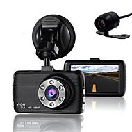dobbelt linse dash cam kamera dvr bil til drivere fuld HD 1080 p optager kamera med nat vision g-sensor