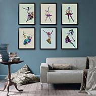 billige Innrammet kunst-Blomstret/Botanisk Vintage Tegning Veggkunst,PVC Materiale med ramme For Hjem Dekor Rammekunst Stue Kjøkken Spisestue Soverom Kontor
