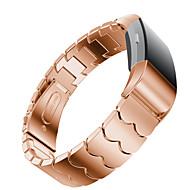 billiga Smart klocka Tillbehör-Klockarmband för Fitbit Charge 2 Fitbit Modernt spänne Metall / Rostfritt stål Handledsrem