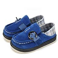 tanie Obuwie chłopięce-Dla chłopców Buty Materiał Skóra Wiosna Jesień Wulkanizowane buty Comfort Buty płaskie Klamra Gore na Casual Dark Blue Light Green