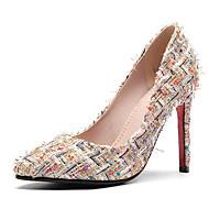 Feminino Sapatos Micofibra Sintética PU Courino Primavera Verão Conforto Plataforma Básica Saltos Salto Agulha Dedo Apontado para Social