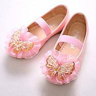baratos Sapatos de Menina-Para Meninas Sapatos Couro Ecológico Primavera / Outono Inovador / Sapatos para Daminhas de Honra Rasos Laço / Miçangas / Elástico para