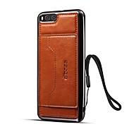 Etui Til Xiaomi Mi 6 Kortholder Med stativ Bagcover Helfarve Hårdt Kunstlæder for Xiaomi Mi 6
