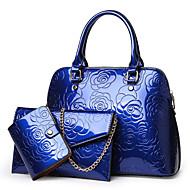 お買い得  バッグセット-女性用 バッグ PU バッグセット 3個の財布セット パターン/プリント のために イベント/パーティー シャンパン / ブラック / パープル