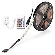 billiga Belysning-ZDM® 300 lysdioder 5M LED Strip Light 1 24Välj fjärrkontrollen 1 AC-kabel RGB Klippbar Självhäftande Dekorativ DC 12 V