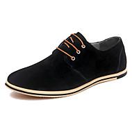 Muškarci Cipele za vožnju Koža Proljeće / Ljeto Ležerne prilike / Udobne cipele Oksfordice Color block Sive boje / Crvena / Žutomrk