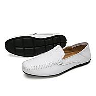 Hombre Zapatos Cuero Patentado / PU Primavera / Otoño Confort / Zapatos formales Zapatos de taco bajo y Slip-On Negro / Wine / Verde zHNg9R