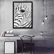 billige Innrammet kunst-Abstrakt Dyr Tegning Veggkunst,PVC Materiale med ramme For Hjem Dekor Rammekunst Stue Soverom Kjøkken Spisestue Barnerom Kontor