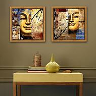 billige Innrammet kunst-Abstrakt Religiøst Tegning Veggkunst,Plastikk Materiale med ramme For Hjem Dekor Rammekunst Stue Innendørs