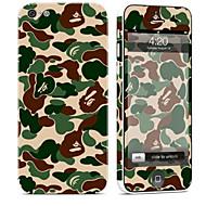 billiga Mobil cases & Skärmskydd-1 st Mobilskin för Reptålig Kamuflasje Mönster PVC iPhone 5c