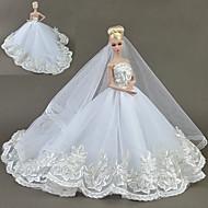 Šaty Šaty Pro Barbie Doll Bílá Tyl / Krajka / Směs hedvábí a bavlny Šaty Pro Dívka je Doll Toy