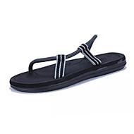 お買い得  メンズクロッグ&ミュール-男性用 靴 PUレザー 夏 ライト付きソール 下駄とミュール ウォーキング リベット のために カジュアル ブラウン ブラック ネービーブルー