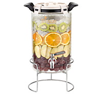 billiga Köksförvaring-Glas Rostfritt stål/järn Hög kvalitet transparent kropp Mat förråd 1st Kök Organisation