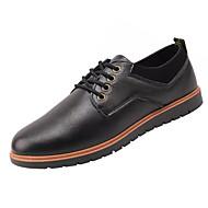 Muškarci Cipele Sintetika, mikrofibra, PU Proljeće Jesen Svjetleće tenisice Sneakers Hodanje za Kauzalni Crn Žutomrk