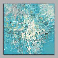 baratos -Pintados à mão Abstrato Quadrada, Modern Tela de pintura Pintura a Óleo Decoração para casa 1 Painel