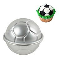 billige Bakeredskap-fotball kake mold 3d aluminium fotball kake pudding pan baking kringle mold