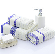 cheap Towels & Robes-Fresh Style Bath Towel, Striped Superior Quality Poly/Cotton Cotton Blend Towel