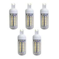 billige Kornpærer med LED-5pcs 5W 420 lm G9 LED-kornpærer 48 leds SMD 5050 LED Lys Varm hvit AC 220-240V